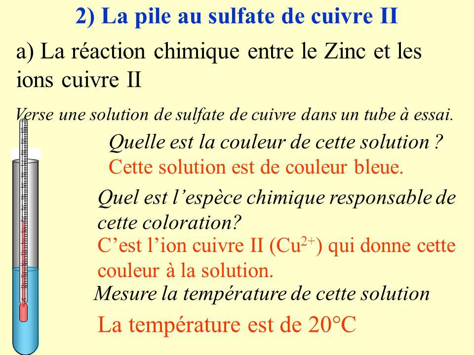 2) La pile au sulfate de cuivre II