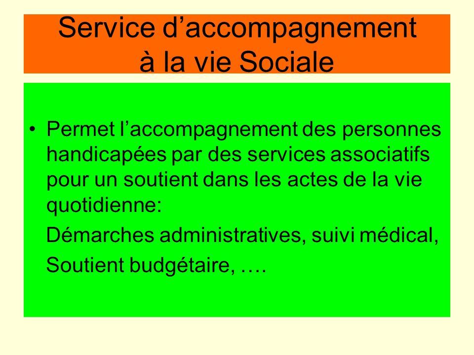Service d'accompagnement à la vie Sociale