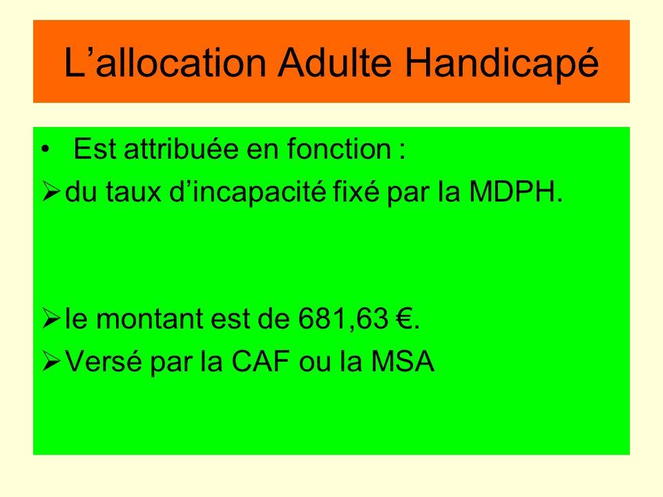 L'allocation Adulte Handicapé