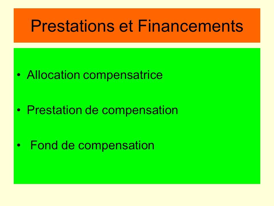 Prestations et Financements