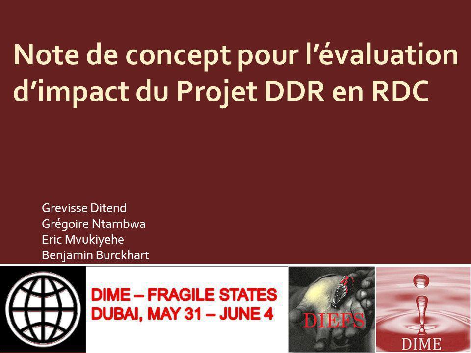 Note de concept pour l'évaluation d'impact du Projet DDR en RDC