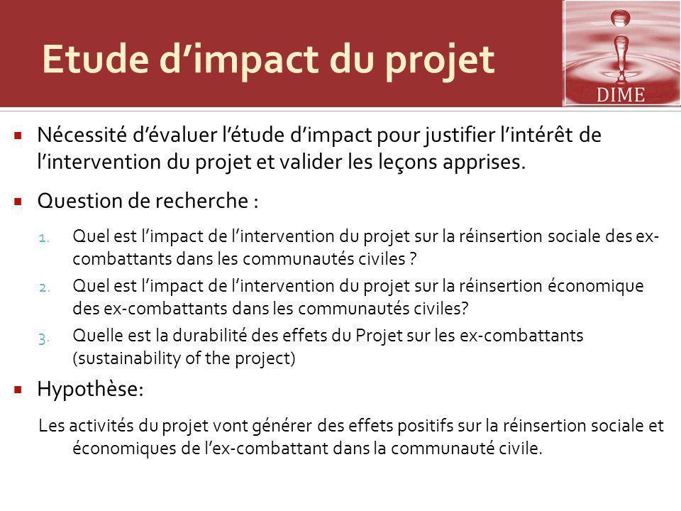 Etude d'impact du projet