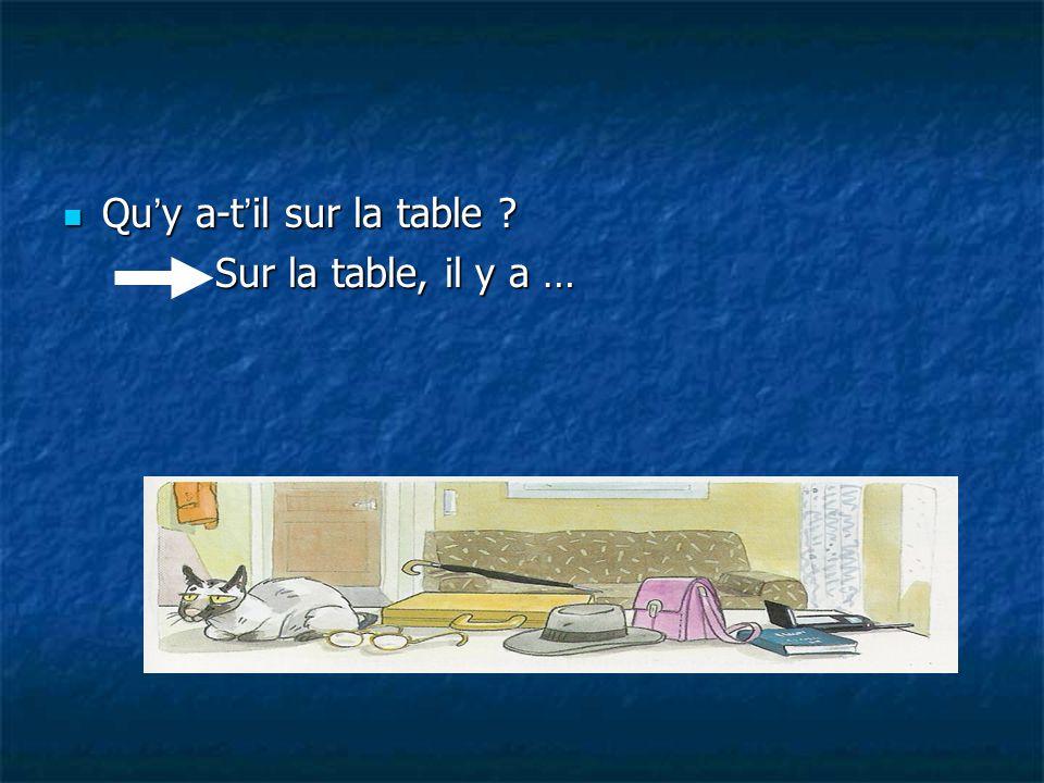 Qu'y a-t'il sur la table