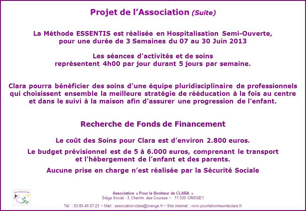 Projet de l'Association (Suite)