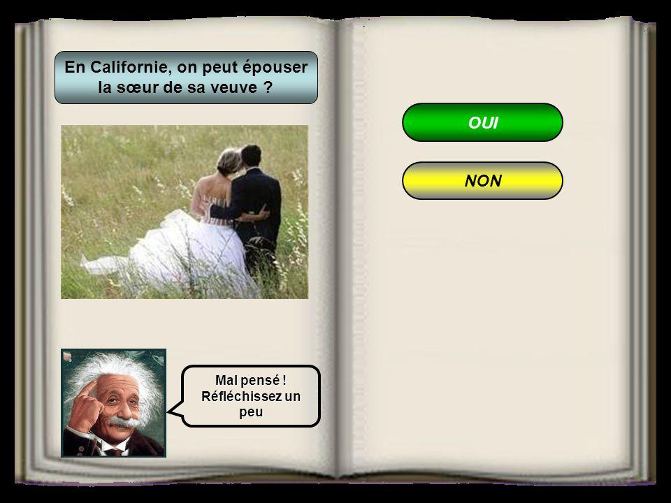 En Californie, on peut épouser la sœur de sa veuve