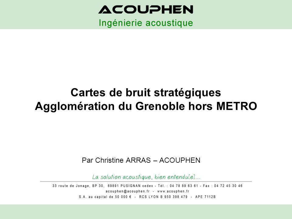 Cartes de bruit stratégiques Agglomération du Grenoble hors METRO