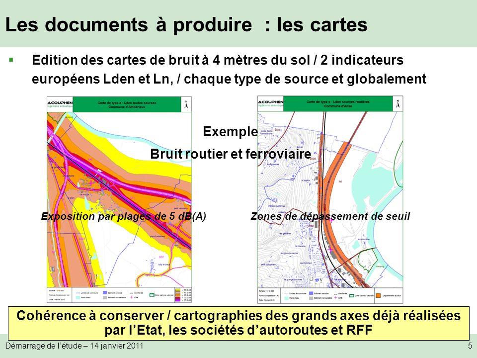 Les documents à produire : les cartes