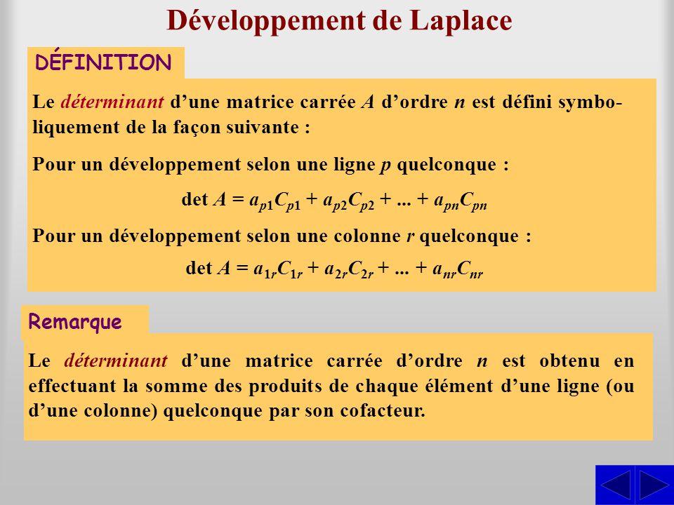 Développement de Laplace