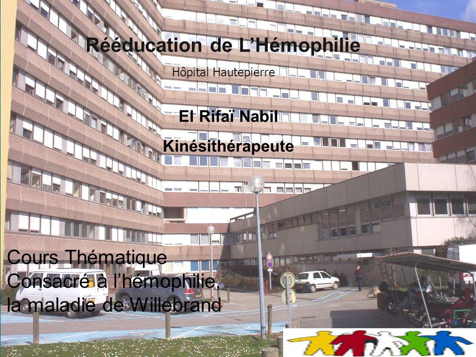 Rééducation de L'Hémophilie