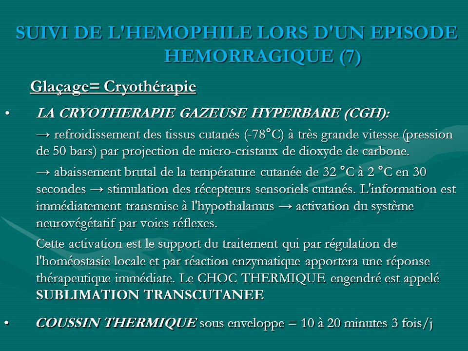 SUIVI DE L HEMOPHILE LORS D UN EPISODE HEMORRAGIQUE (7)