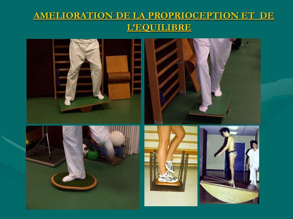 AMELIORATION DE LA PROPRIOCEPTION ET DE L'EQUILIBRE