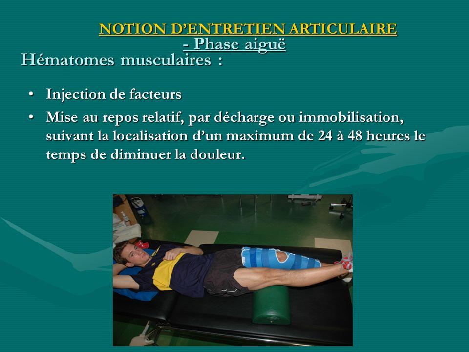 Hématomes musculaires :