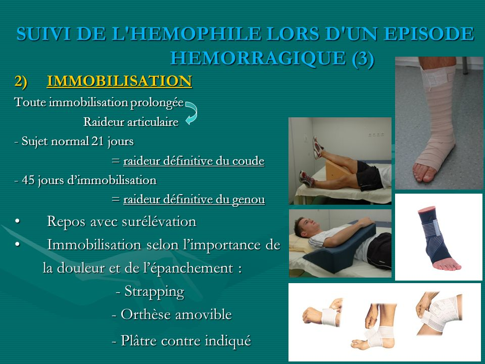 SUIVI DE L HEMOPHILE LORS D UN EPISODE HEMORRAGIQUE (3)