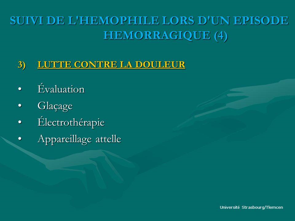 SUIVI DE L HEMOPHILE LORS D UN EPISODE HEMORRAGIQUE (4)