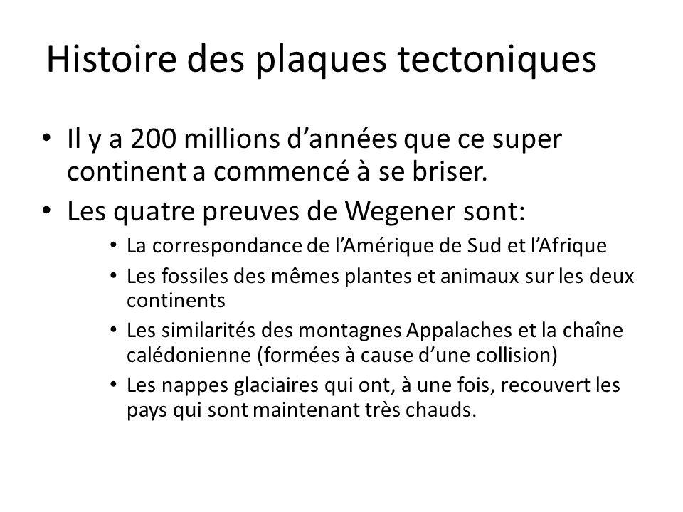 Histoire des plaques tectoniques