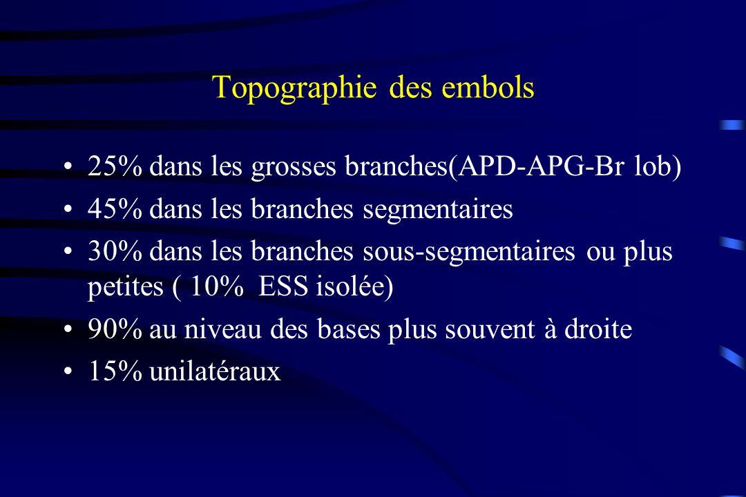 Topographie des embols