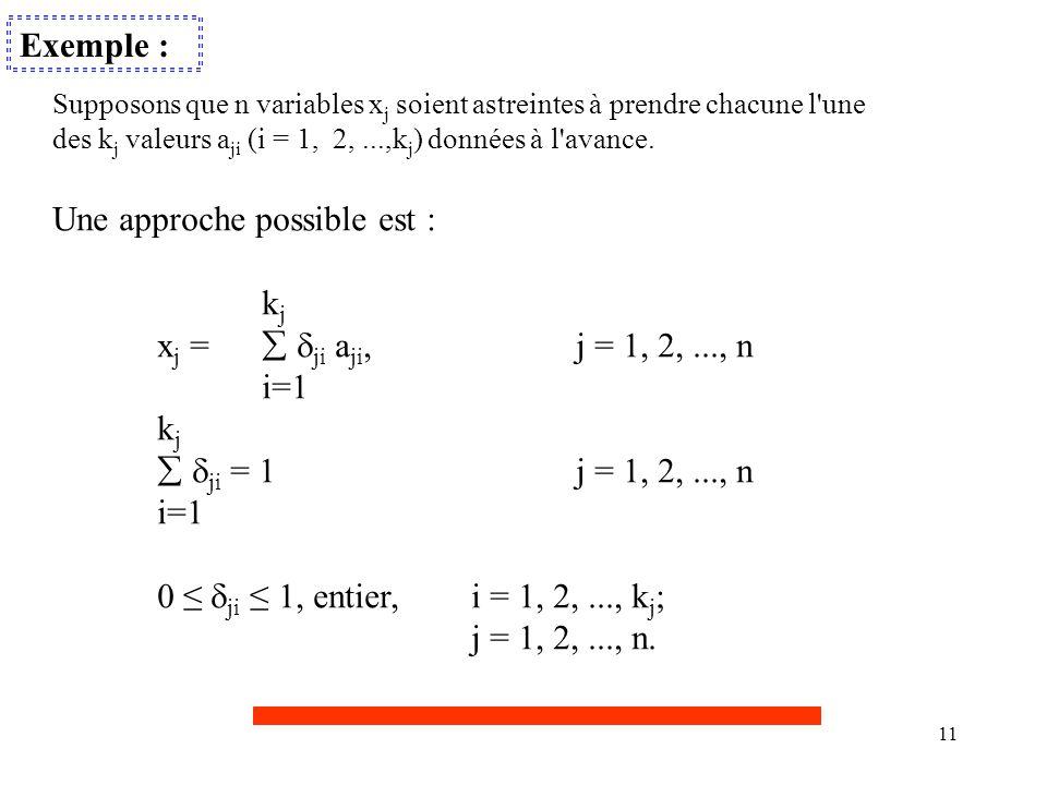 Une approche possible est : kj xj =  ji aji, j = 1, 2, ..., n i=1