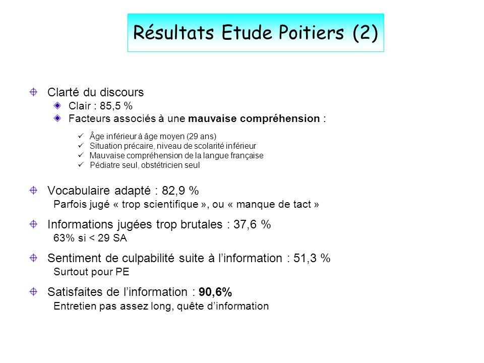 Résultats Etude Poitiers (2)