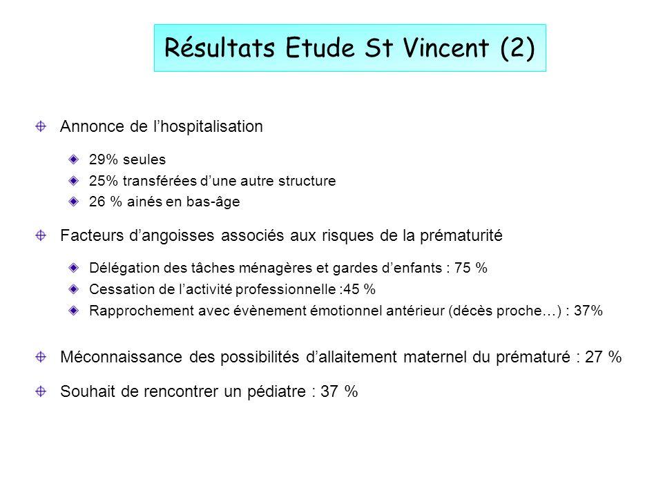 Résultats Etude St Vincent (2)