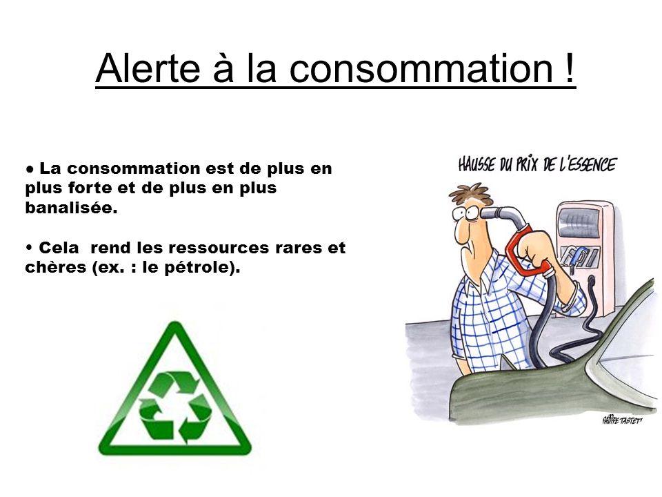 Alerte à la consommation !