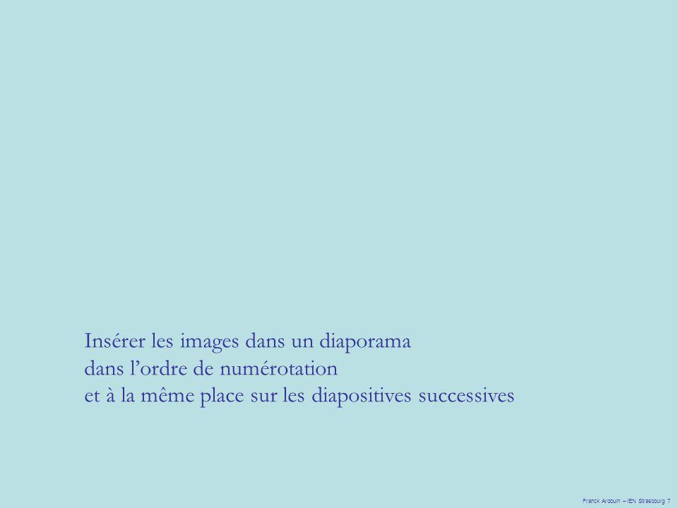 Insérer les images dans un diaporama dans l'ordre de numérotation