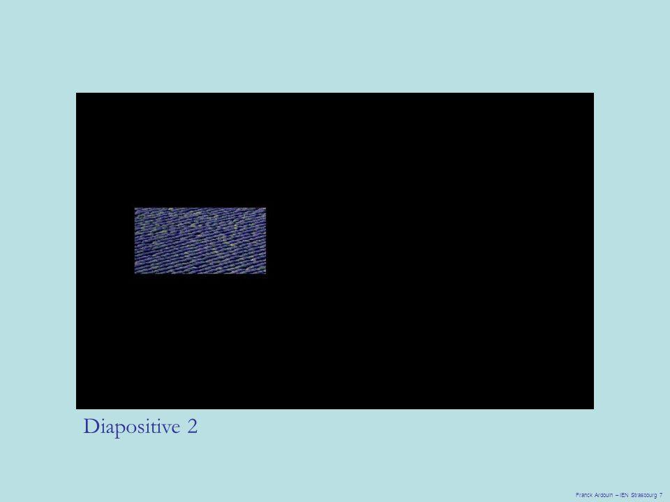 Diapositive 2 Franck Ardouin – IEN Strasbourg 7