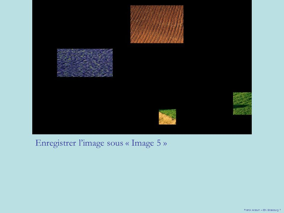 Enregistrer l'image sous « Image 5 »