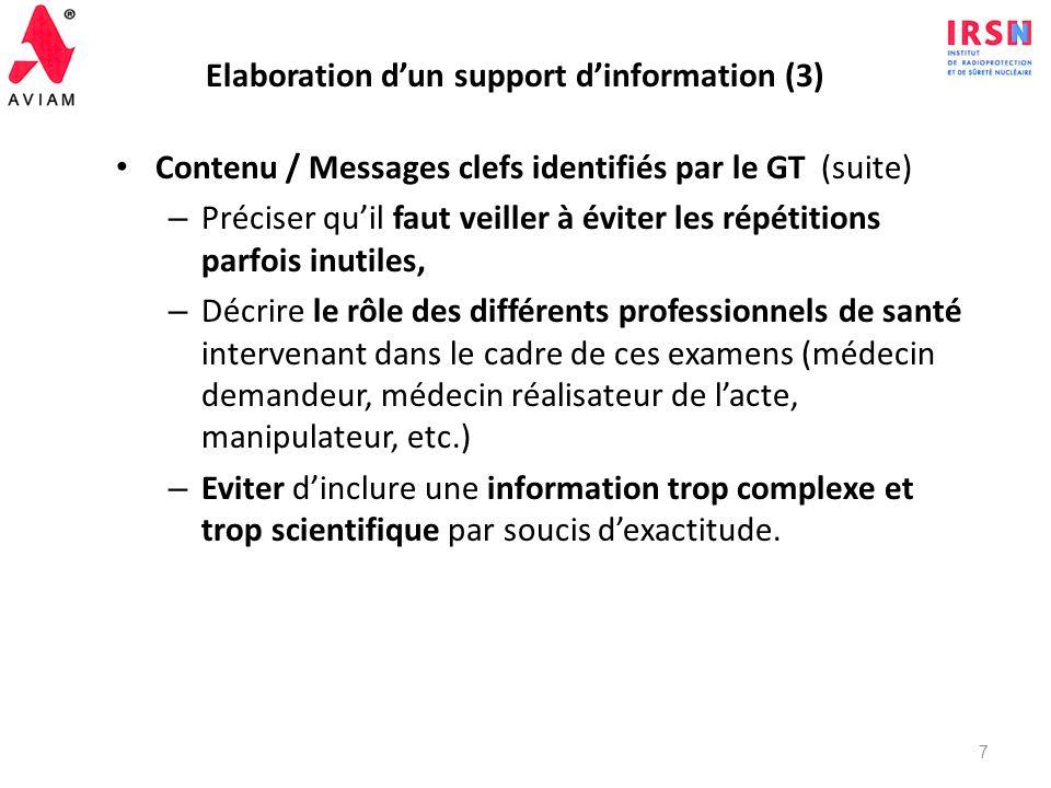 Elaboration d'un support d'information (3)