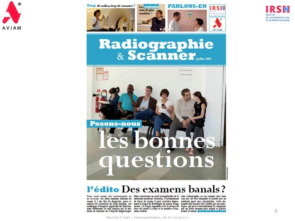 2ème Réunion du Comité de Pilotage - Suivi du Protocole de coopération IRSN-PMA - Montbéliard, le 4/10/2011