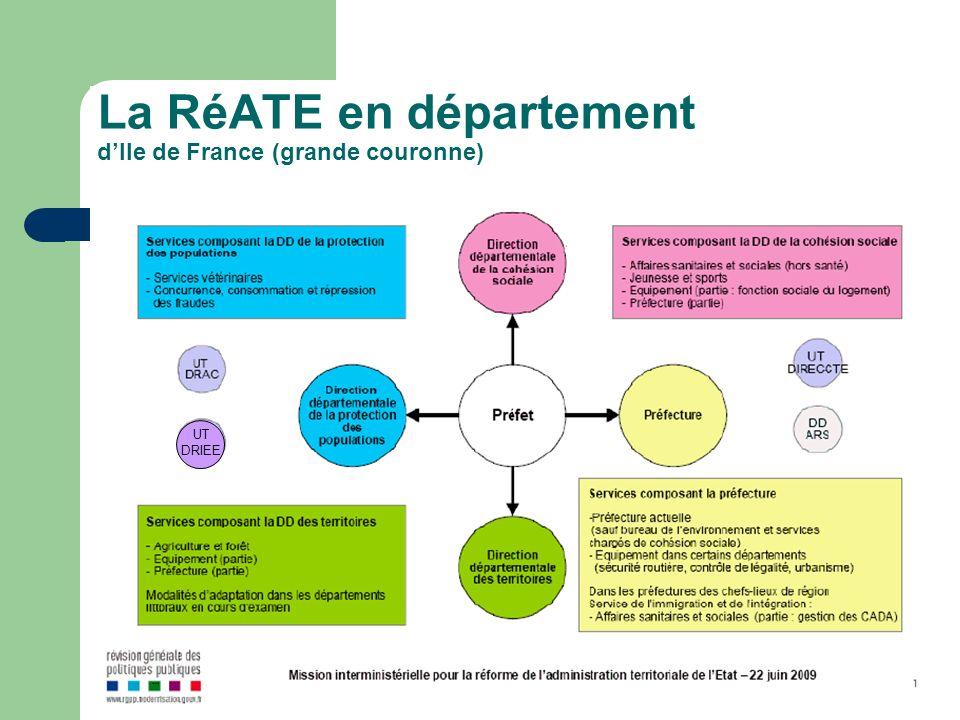 La RéATE en département d'Ile de France (grande couronne)
