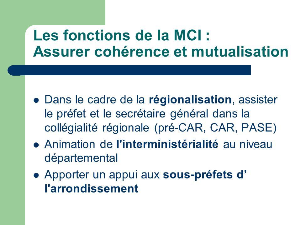 Les fonctions de la MCI : Assurer cohérence et mutualisation