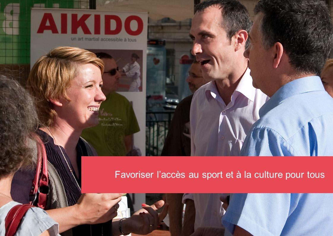 Favoriser l'accès au sport et à la culture pour tous