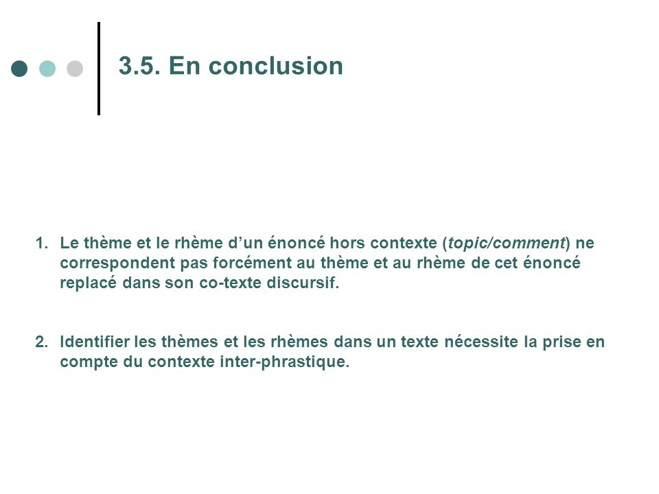 3.5. En conclusion