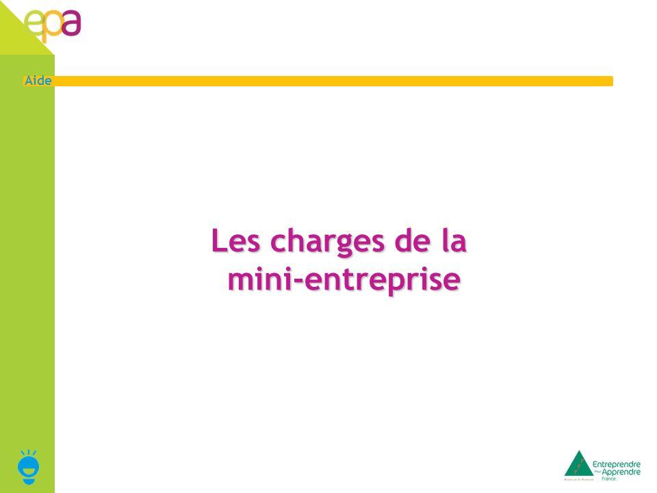 Les charges de la mini-entreprise