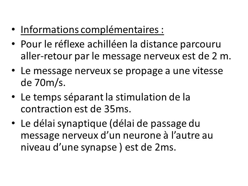 Informations complémentaires :