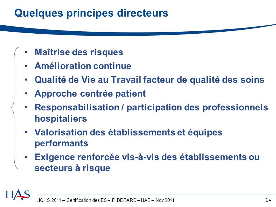 Quelques principes directeurs
