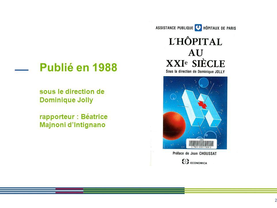 Publié en 1988 sous le direction de Dominique Jolly rapporteur : Béatrice Majnoni d'Intignano