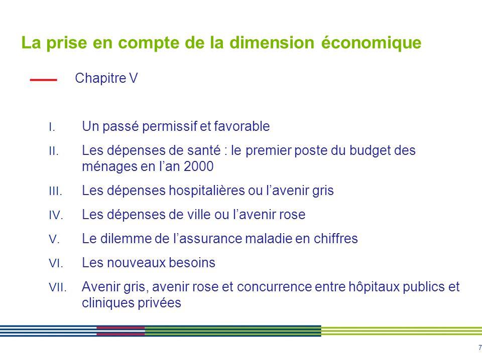 La prise en compte de la dimension économique