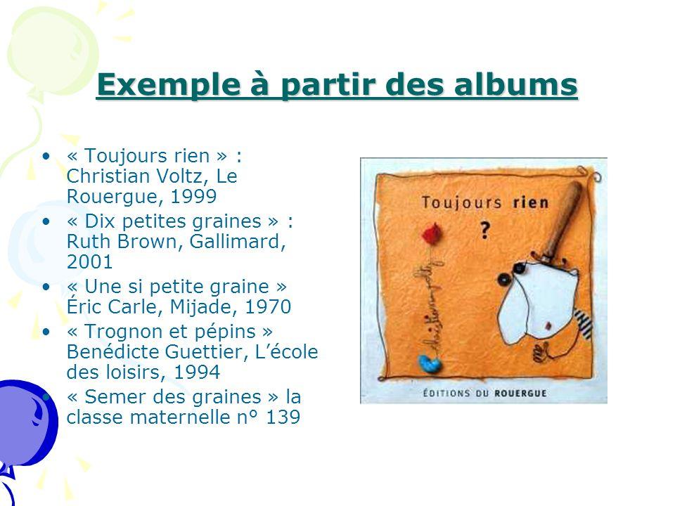 Exemple à partir des albums