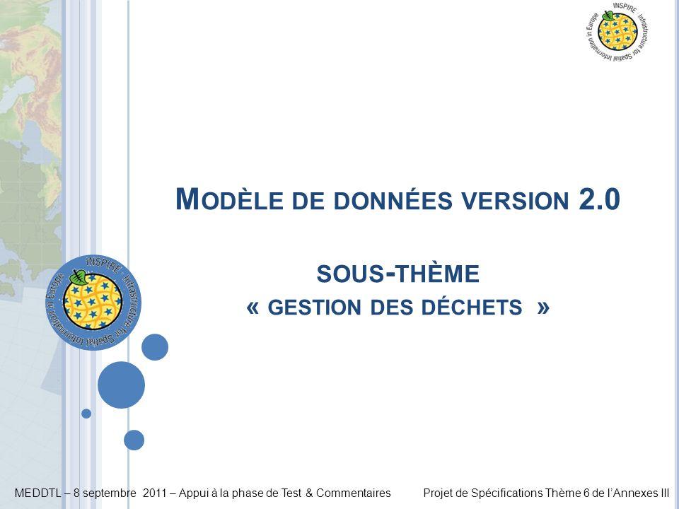 Modèle de données version 2.0 sous-thème « gestion des déchets »