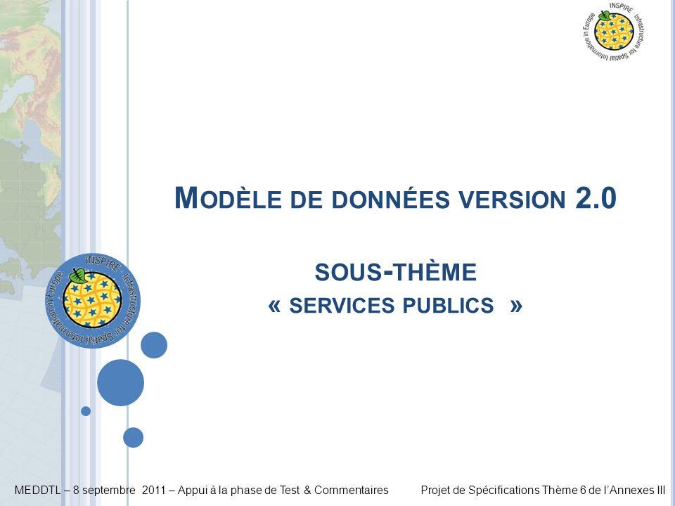 Modèle de données version 2.0 sous-thème « services publics »