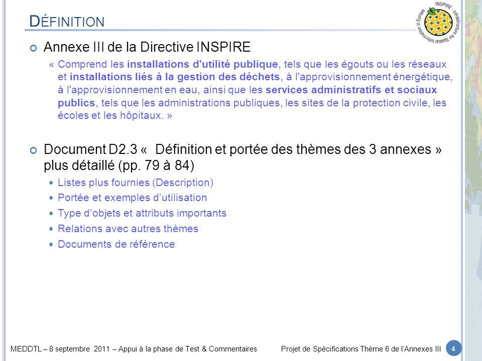 Définition Annexe III de la Directive INSPIRE