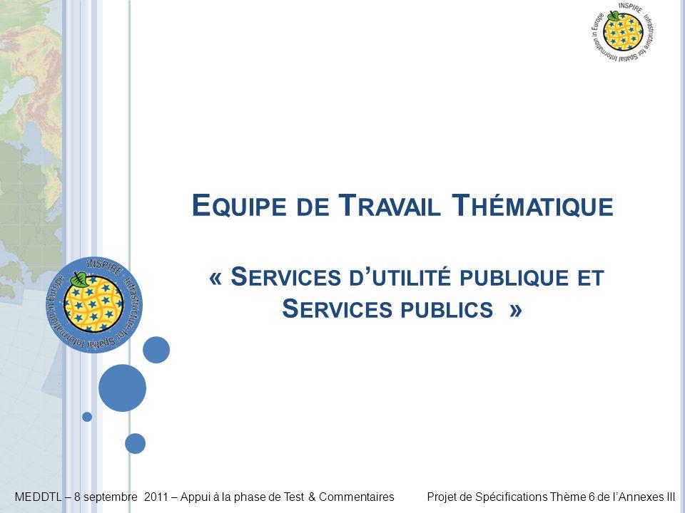 Equipe de Travail Thématique « Services d'utilité publique et Services publics »
