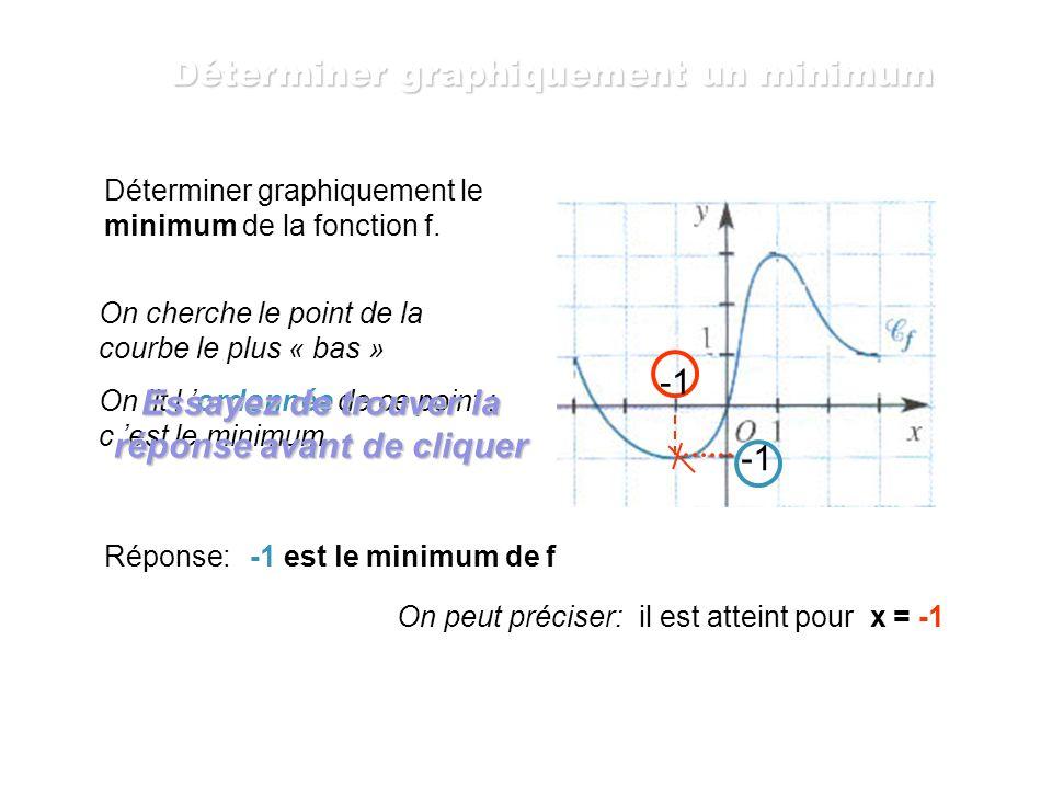 Déterminer graphiquement un minimum