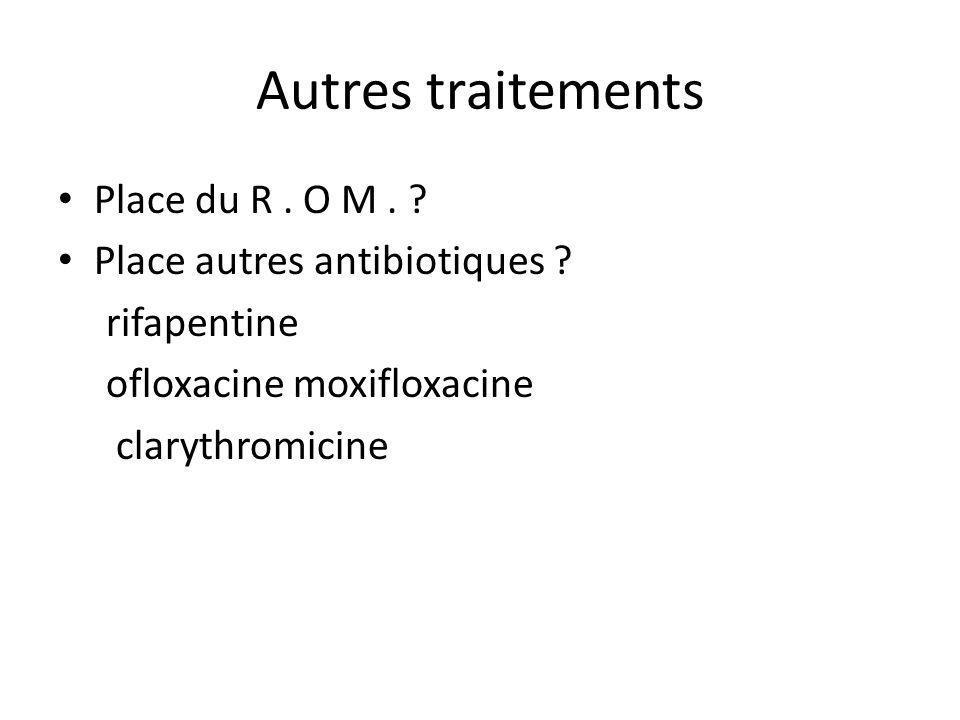 Autres traitements Place du R . O M . Place autres antibiotiques