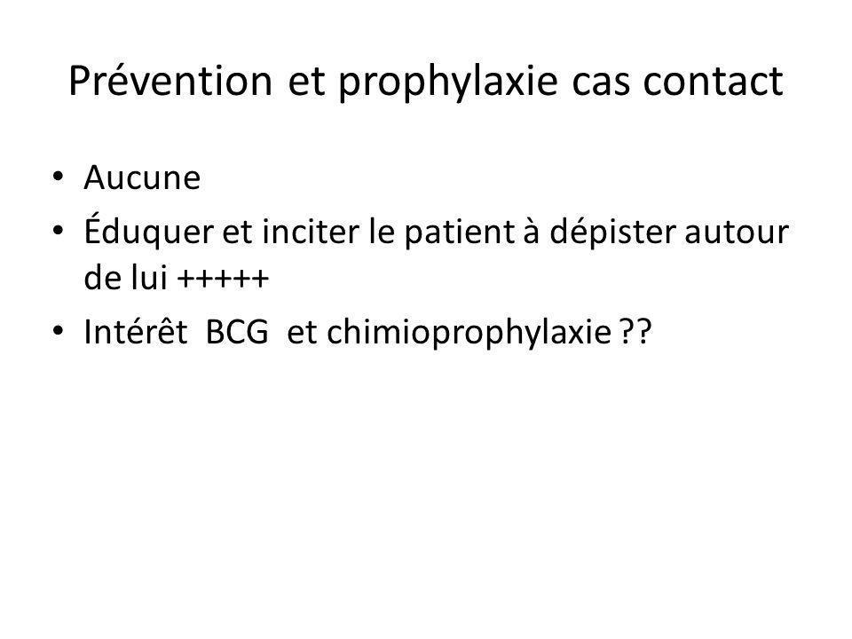 Prévention et prophylaxie cas contact