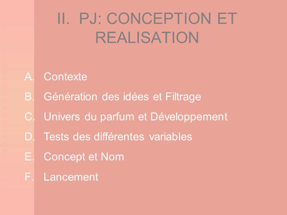 II. PJ: CONCEPTION ET REALISATION
