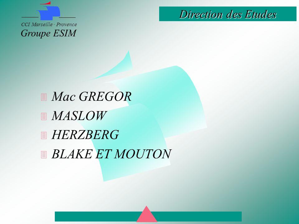 Mac GREGOR MASLOW HERZBERG BLAKE ET MOUTON