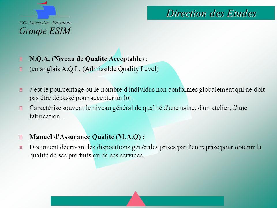 N.Q.A. (Niveau de Qualité Acceptable) :