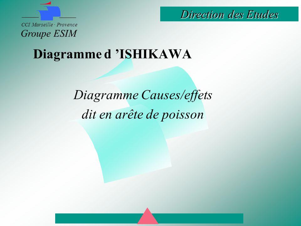 Diagramme Causes/effets dit en arête de poisson